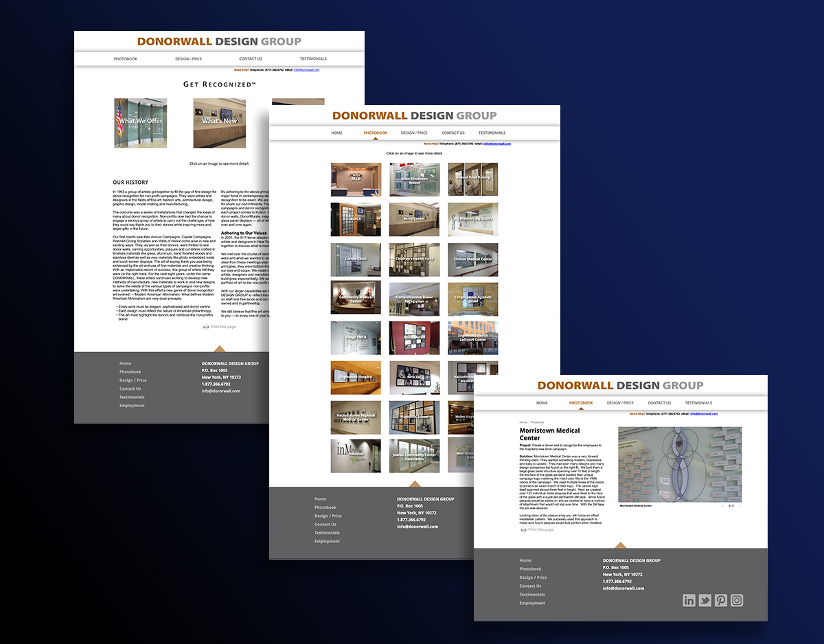DONORWALL Design Group Website